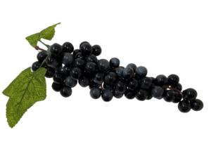 Replica bunch black grapes