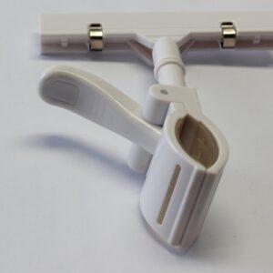 Large white Plastic Pop Clip 155mm