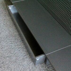 Sliding Drawer for Storage under Gondola Base shelf. 900mm x 450mm. WHITE