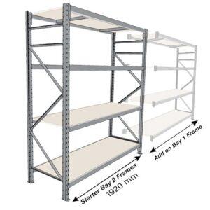 Long Span 4 Shelf Levels Addon Bay-2400x900-1800mm