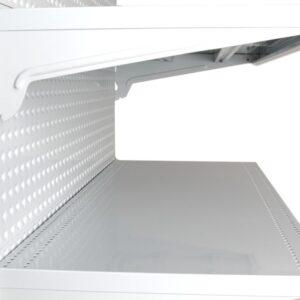 White Single Sided 600mm (W) Narrow Aisle Gondola 300mm Base shelf Starter bay-1500mm-Base Shelf