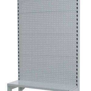 White Single Sided 900mm (W) Narrow Aisle Gondola 300mm Base shelf Addon bay-1800mm-Base Shelf Only