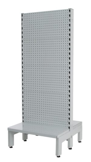 White Double Sided 600mm (W) Narrow Aisle Gondola 300mm Base shelf Starter bay-1500mm-Base Shelf