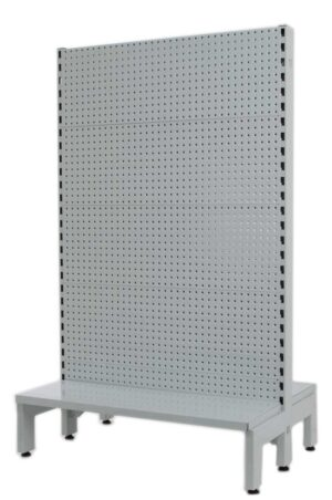 White Double Sided 900mm (W) Narrow Aisle Gondola 300mm Base shelf Addon bay-1800mm-Base Shelf Only