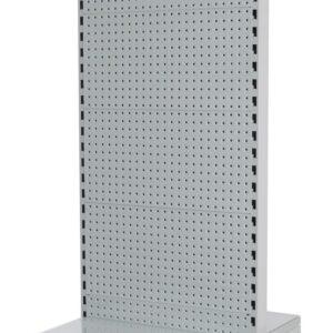 White Double Sided 600mm (W) Narrow Aislondola 300mm Base shelf Addon bay-1800mme G-Base Shelf Only