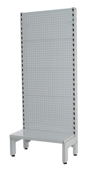 White Single Sided 600mm (W) Narrow Aisle Gondola 300mm Base shelf Addon Bay-1500mm-Base Shelf Only
