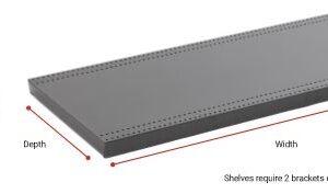 White 250mm x 900mm Shelf