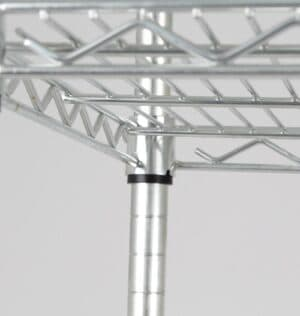 Heavy Duty Wire Shelving System - 1800 H x 1200 W x 450 D mm