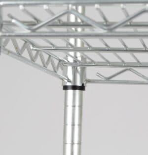 Heavy Duty Wire Shelving System - 1800H x 1500W x 450D mm