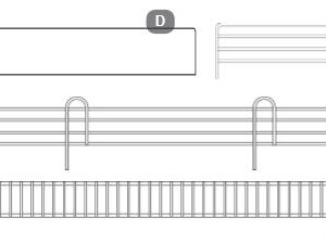 1200x50mm Wire Front Fence, Hammertone Finish