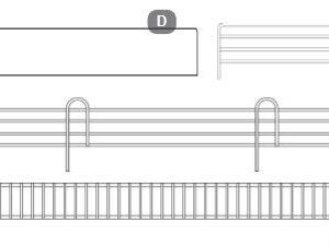 350mm x 50mm Chrome Side Fence