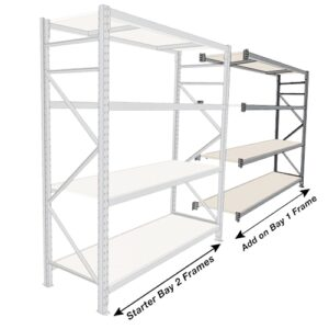 Long Span 4 Shelf Levels Addon Bay-1800x600-1200mm
