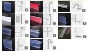 Clear Shelf Talker Grip Data Strip, 30mm x 600mm