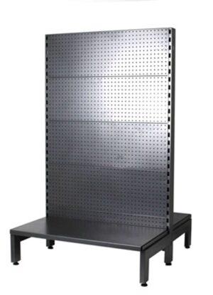 Black Double Sided 1500mm height, 930mm width,  shelf width 350mm