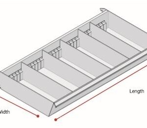 Metal Parts' Trays in White