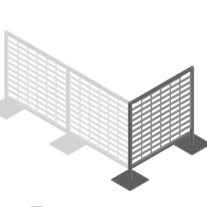 Black Starter Bay Kit for Queuing Systems