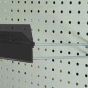 'Type A'  Flip Ticket Holders for Flipper Hooks. Height: 26mm,  Colours: Black & White,  Length: 50 or 75mm,  Pack of 100