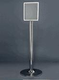 CHROME PLATED STAND A4 FRAME