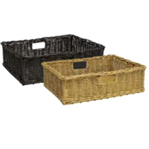 Poly Wicker Ex-Large Basket 580x385x175mm NATURAL