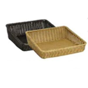 Wicker Basket Poly Sml Slant 290x450x110x40mm NATURAL
