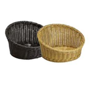 Round Slanted Polywicker Baskets