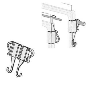 Combination Hanging Clip Pair
