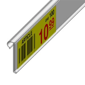 Flipper Label Holder 90mm CLEAR