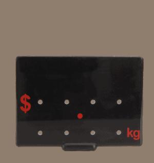 Ticket 65x88mm .KG RED ON BLACK