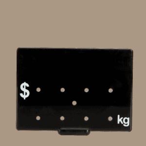 Ticket 65x88mm .KG WHITE ON BLACK