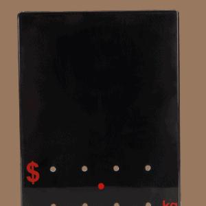 Ticket 90x120mm .KG RED ON BLACK