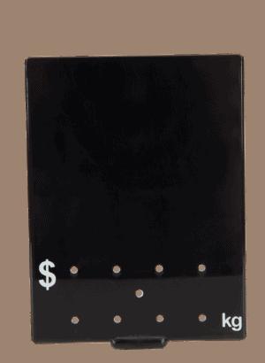 Ticket 90x120mm .KG WHITE ON BLACK