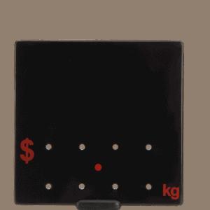 Ticket 90x90mm .KG RED ON BLACK