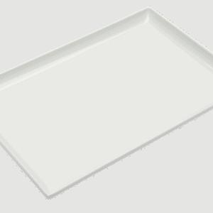 Square Corner Tray 250x170mm WHITE