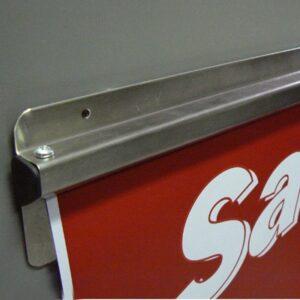 S/Steel Docket Holder C/W Foam Tape 450mm