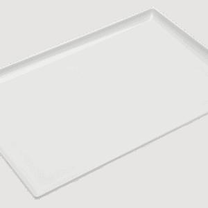 Square Corner Tray 350x240mm WHITE