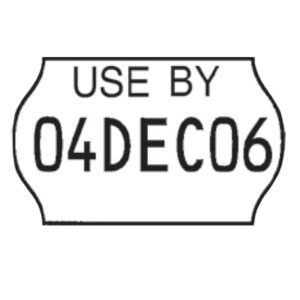 Date Code Label Roll Meto 18x11