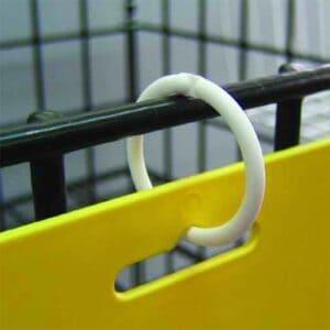 Plastic Locking Ring 25mm WHITE
