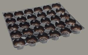 Fruit Tray Liner 30 Pocket BLACK