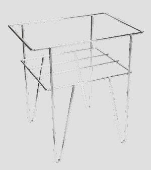 Chrome Mega Basket Stand