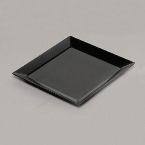 Square Corner Platter 23x23cm BLACK