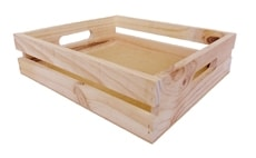 Natural Pine Crate Small 344x300x88mm