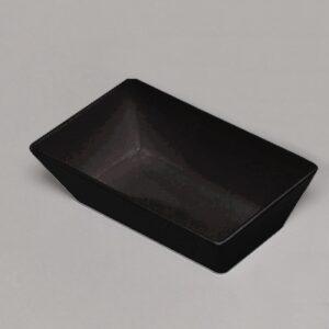 Bowl Rectangle 250x150x75mm BLACK