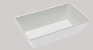 Bowl Rectangle 250x150x75mm WHITE