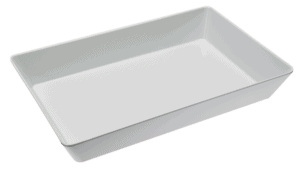 Bowl Rectangle 300x450x75mm WHITE