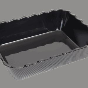 Scallop 340X265X85mm BLACK