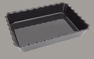 Scallop 410X310X75mm BLACK