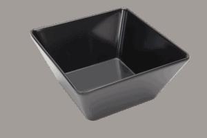 Square Bowl 180x180x85mm BLACK