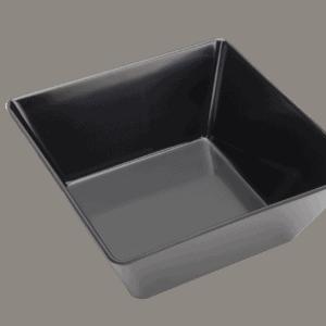 Square Bowl 240x240x100mm BLACK