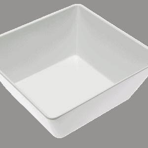 Square Bowl 240x240x100mm WHITE