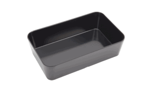 Straight Sided Rect Bowl 250x150mm BLACK